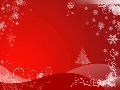 winter tree holiday ppt background #1037