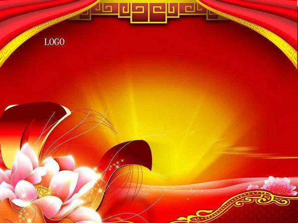 china wind ppt template channel, keywords: the chinese red background