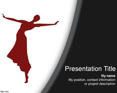Dance Backgrounds for PowerPoint on Pinterest  Dancers, Templates and