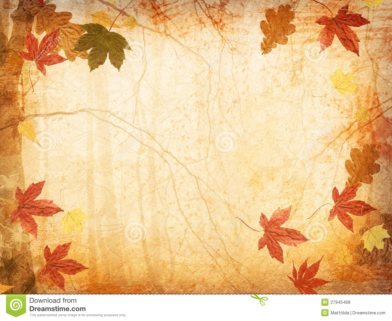 Fall Leaves Background Royalty