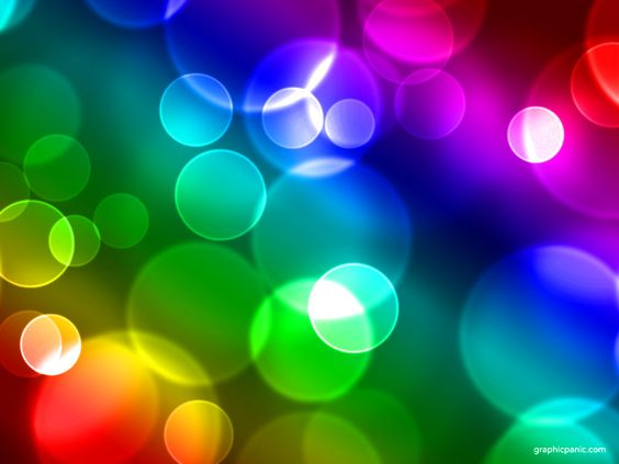 Keynote Backgrounds  Rainbow Bokeh Background  PowerPoint Background