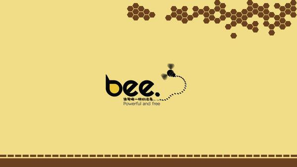 Live bee in ppt background image