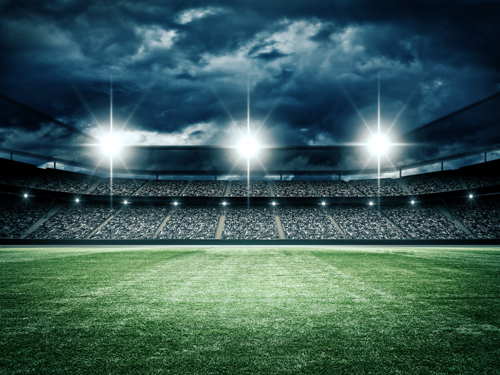 Football Field Lights Background 5ft x 7ft thin vinyl photography