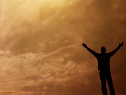 hands lifted in worship praise background