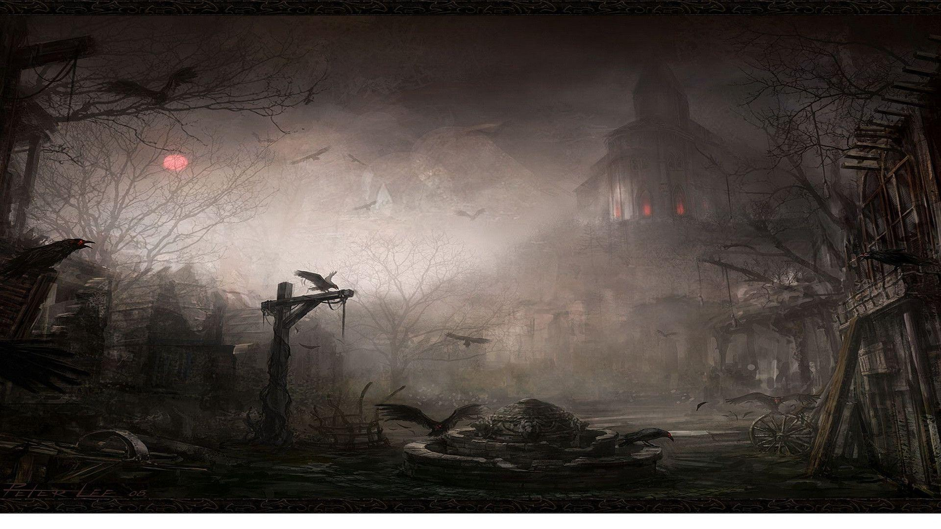 Spooky Background - PowerPoint Backgrounds for Free PowerPoint Templates