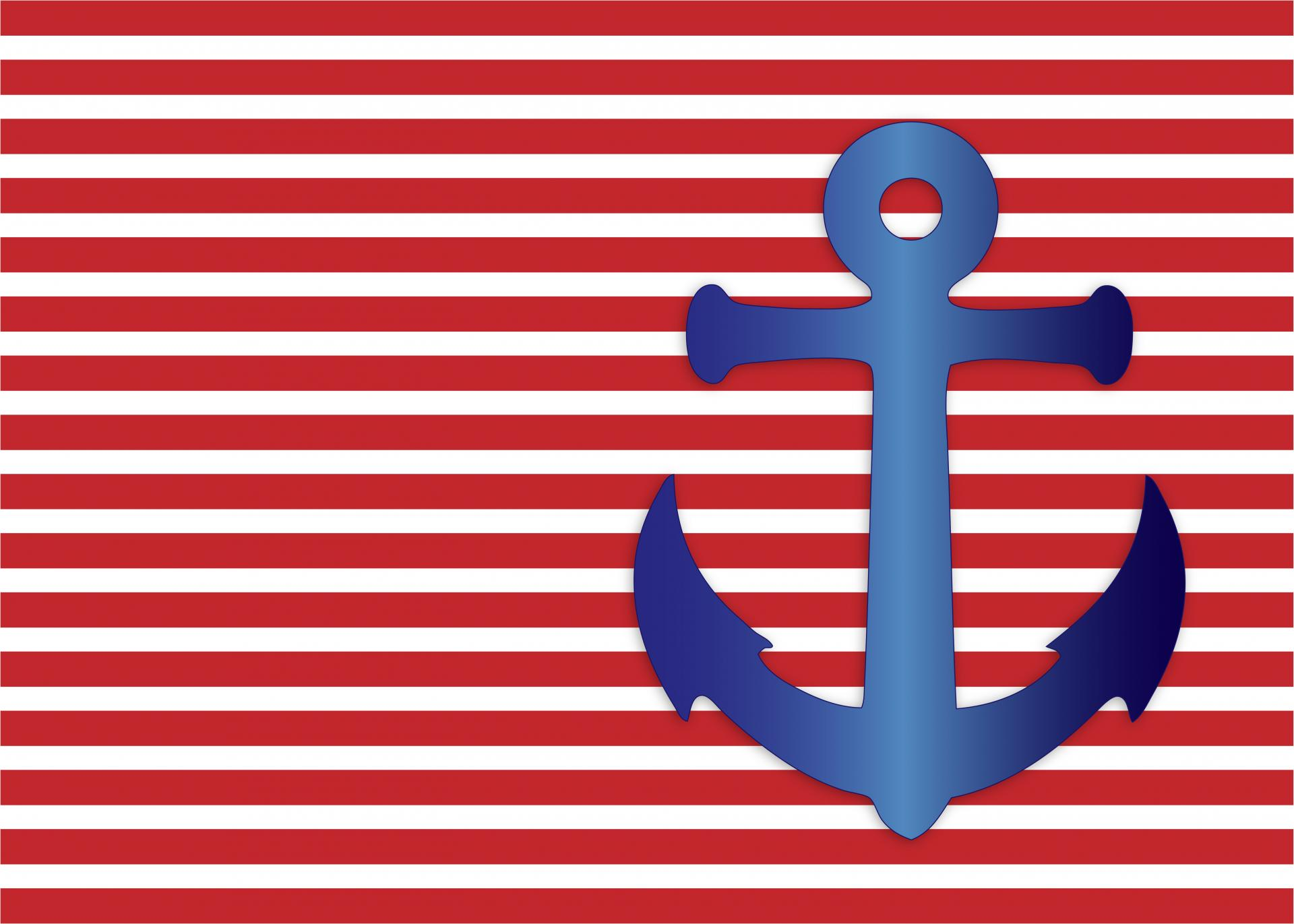 anchor on striped background