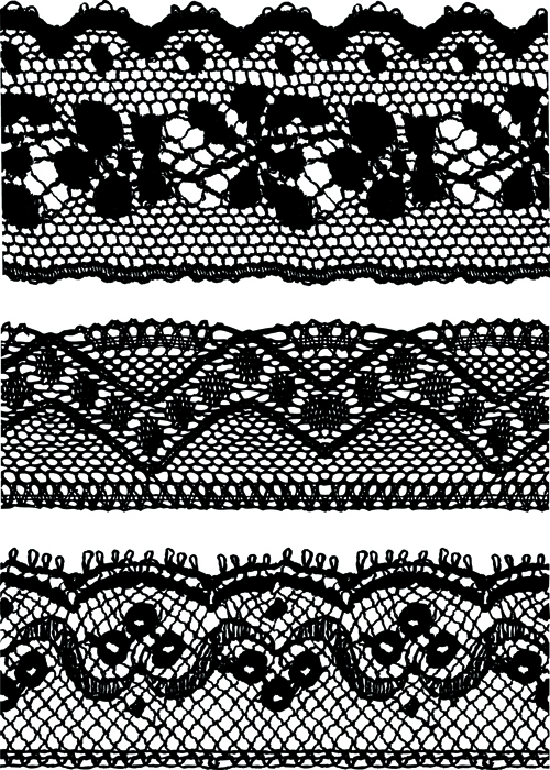 black lace backgrounds vector material