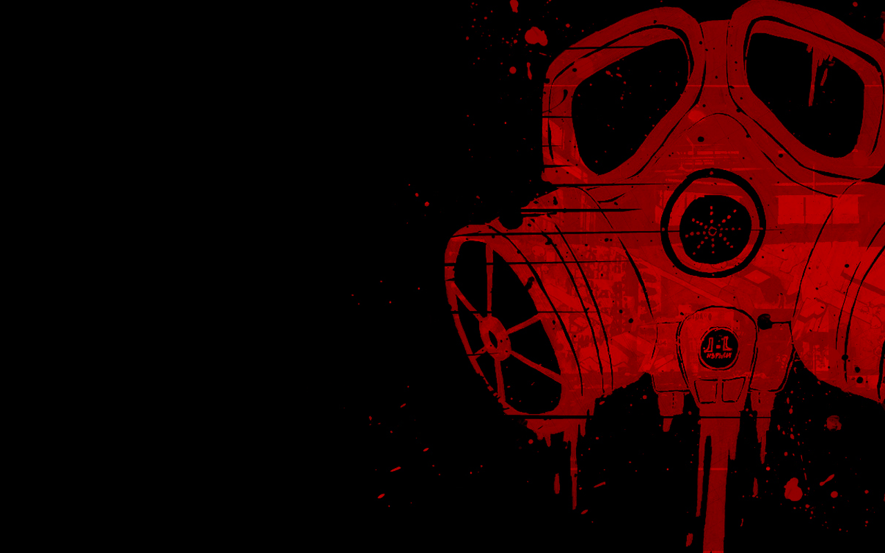 bloody gasmask background