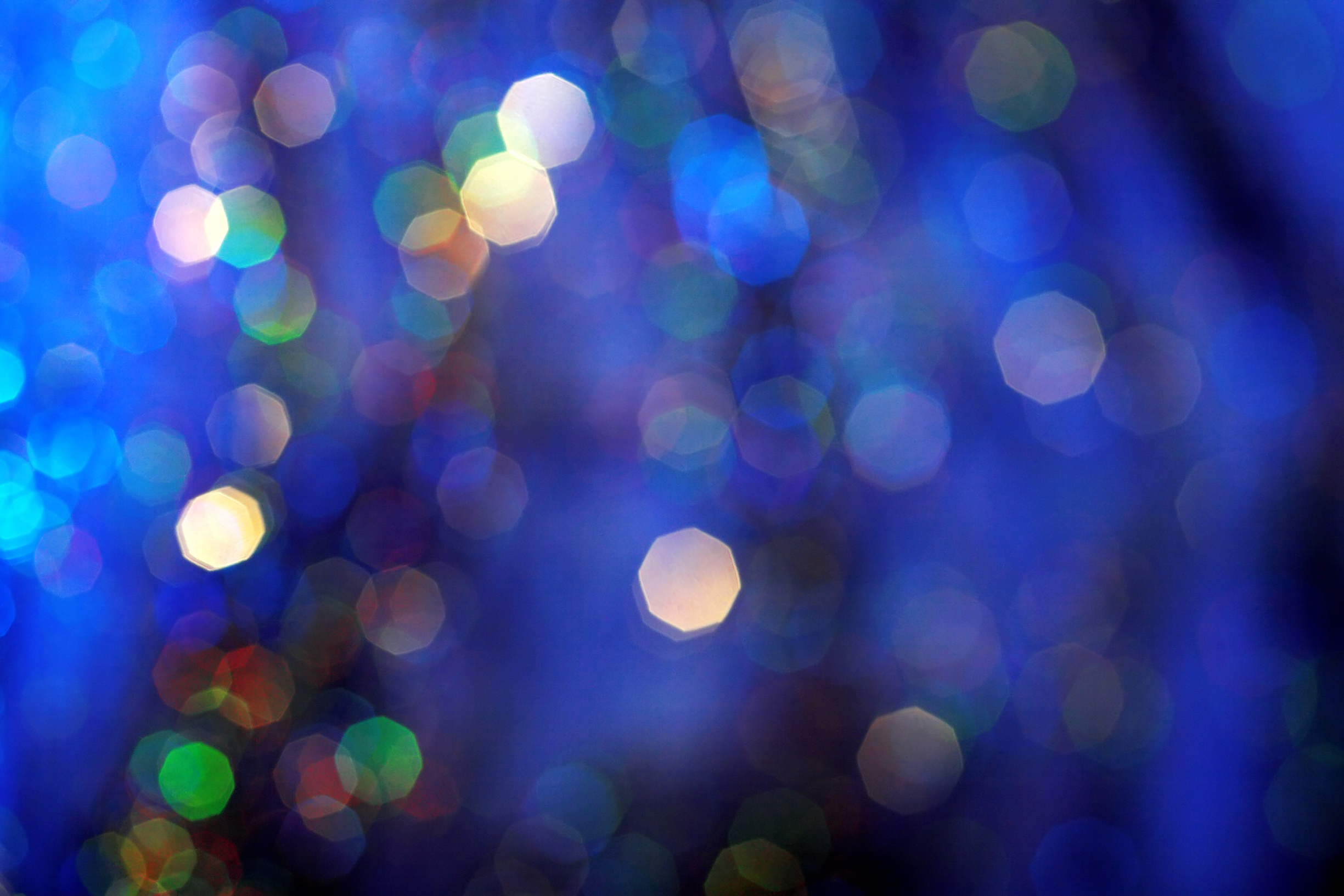 blue christmas light background from