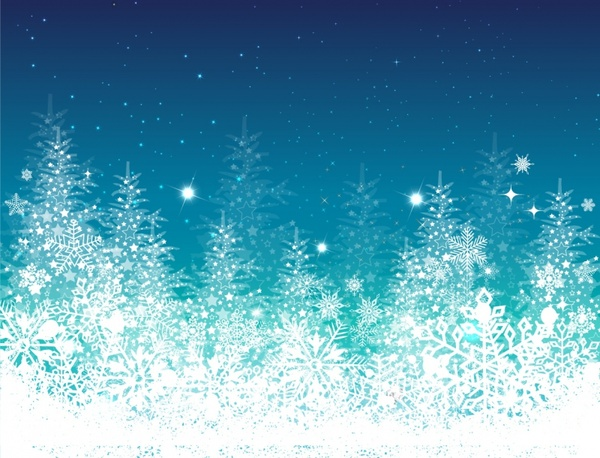 blue, winter, christmas, tree holiday ppt background