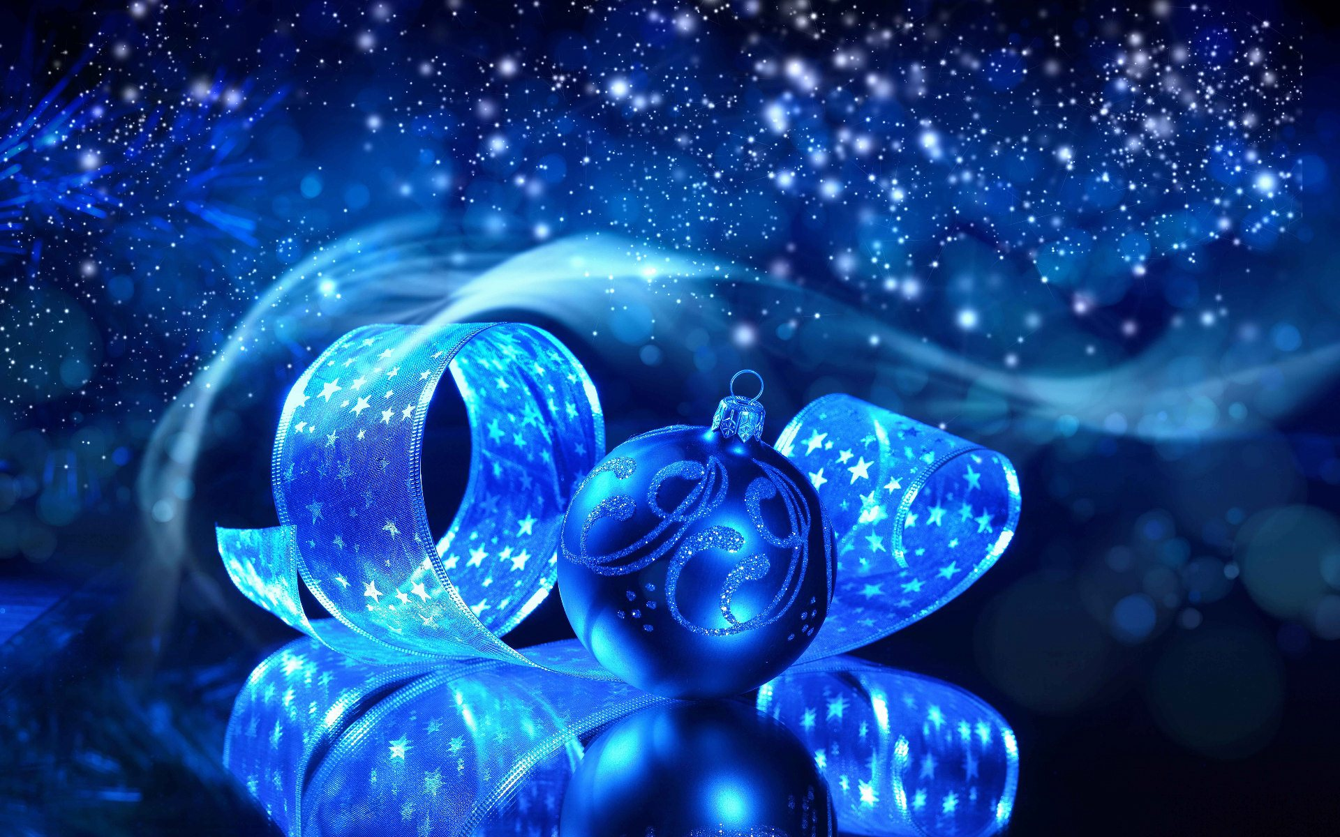 blue xmas wallpapers