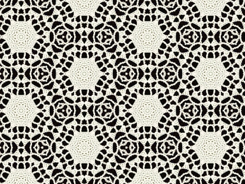 cream wool lace over black background clipart