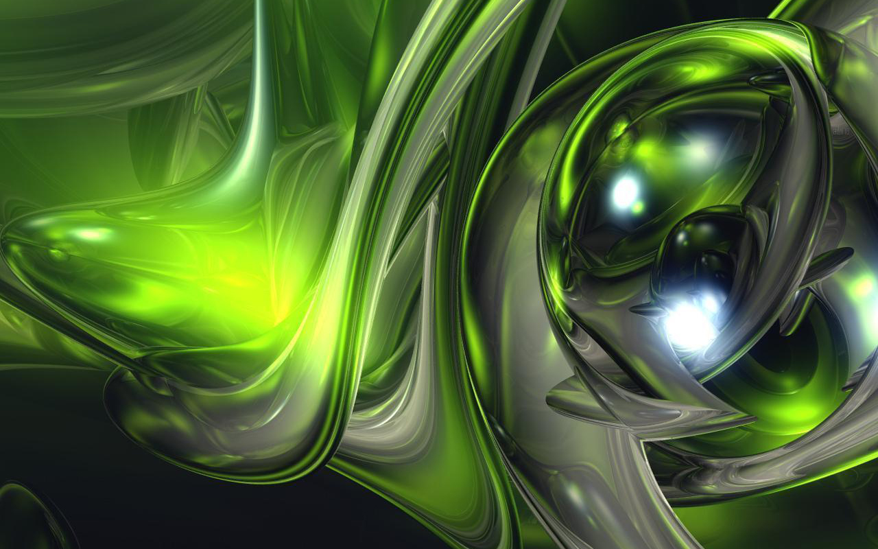 crystal green abstract hd wallpaper