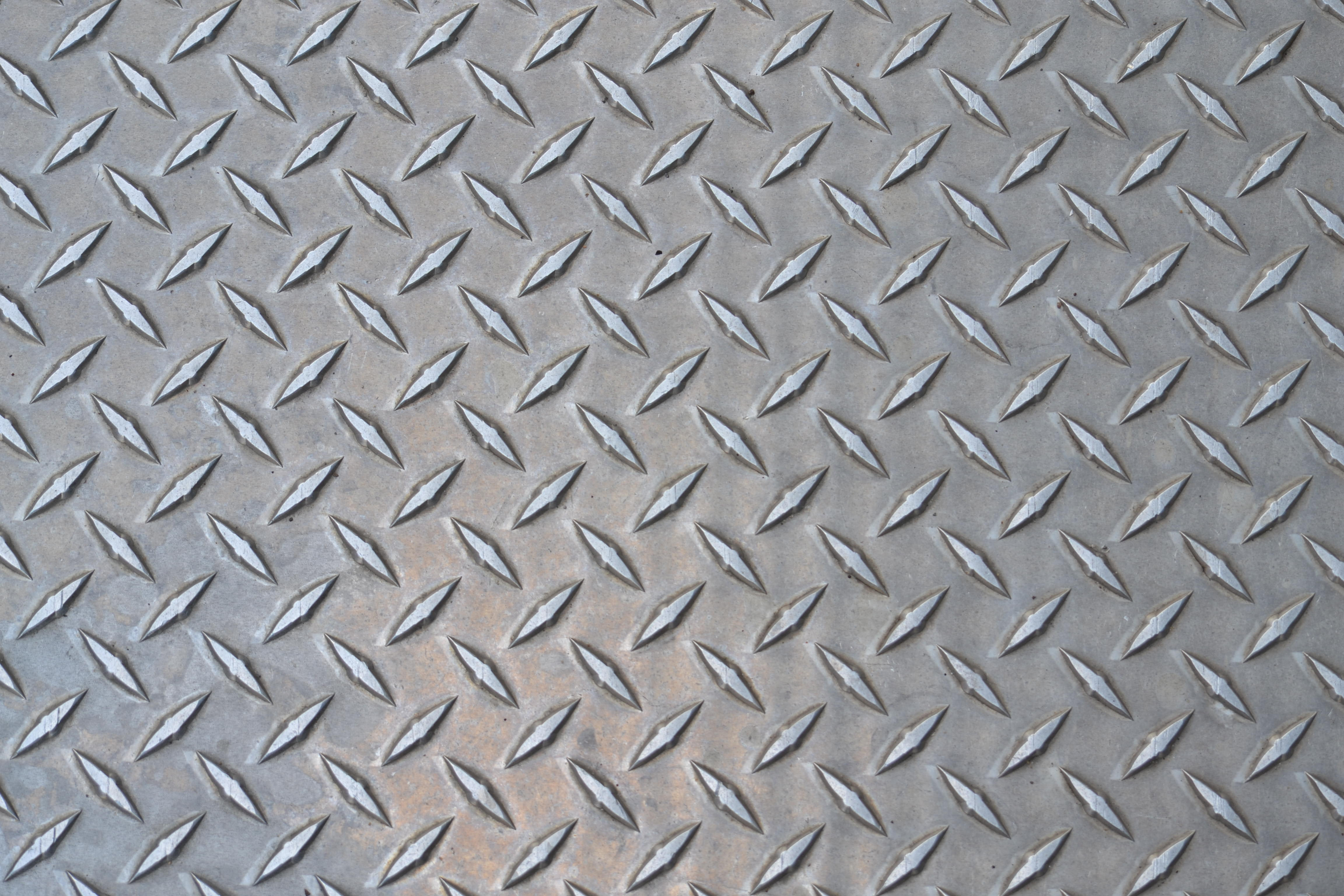 Diamond Plate Textures Background