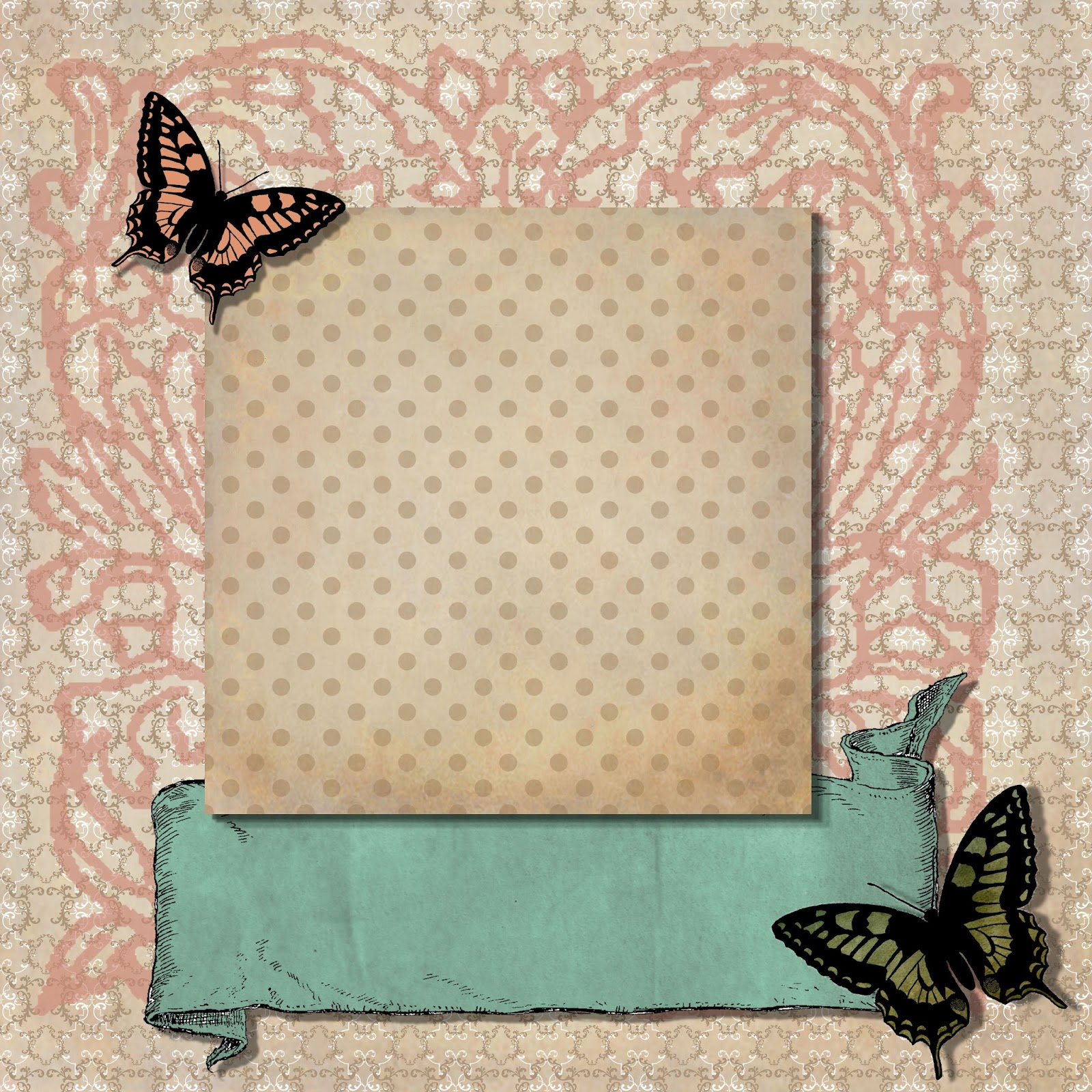digital scrapbook layout page background