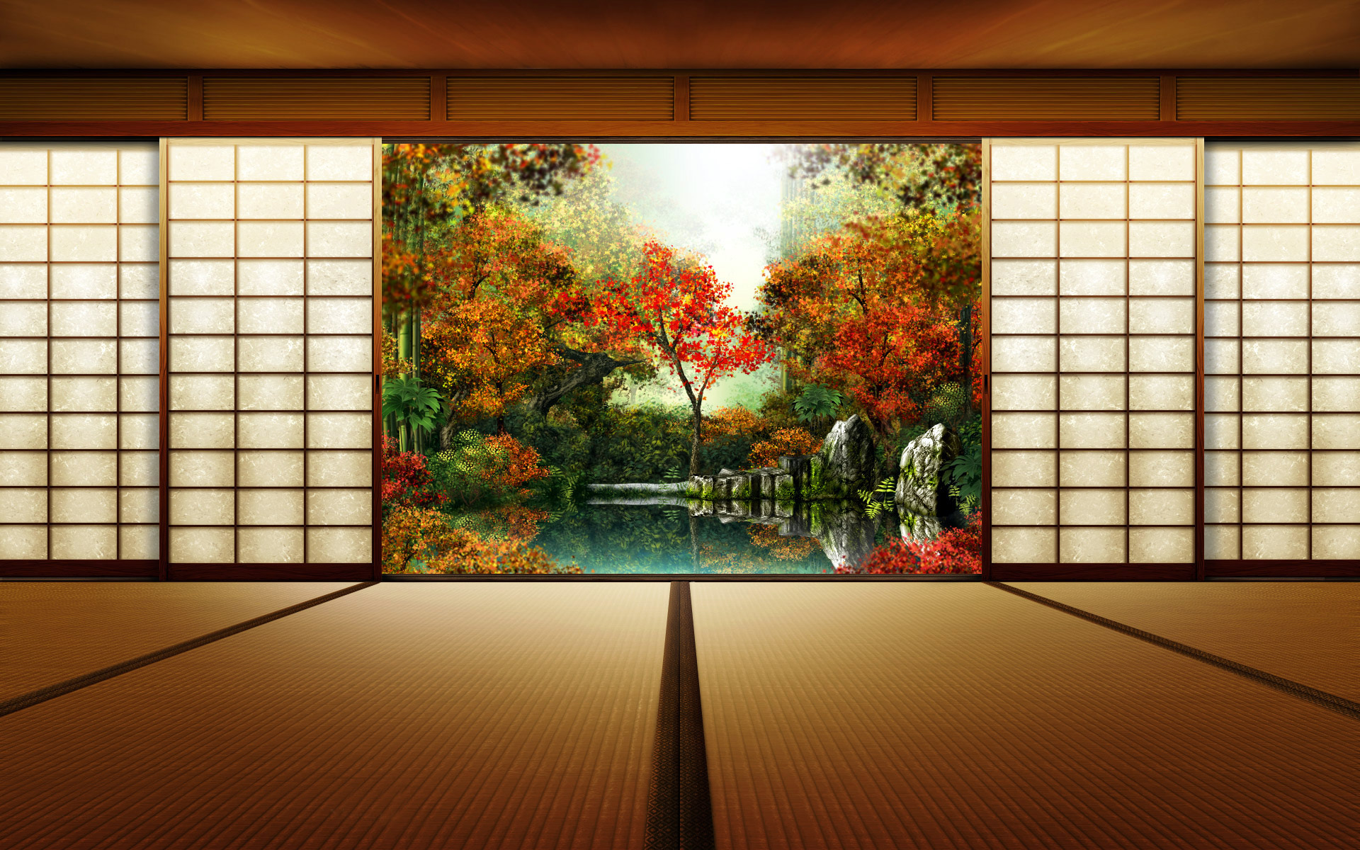 domestic life japanese wallpaper
