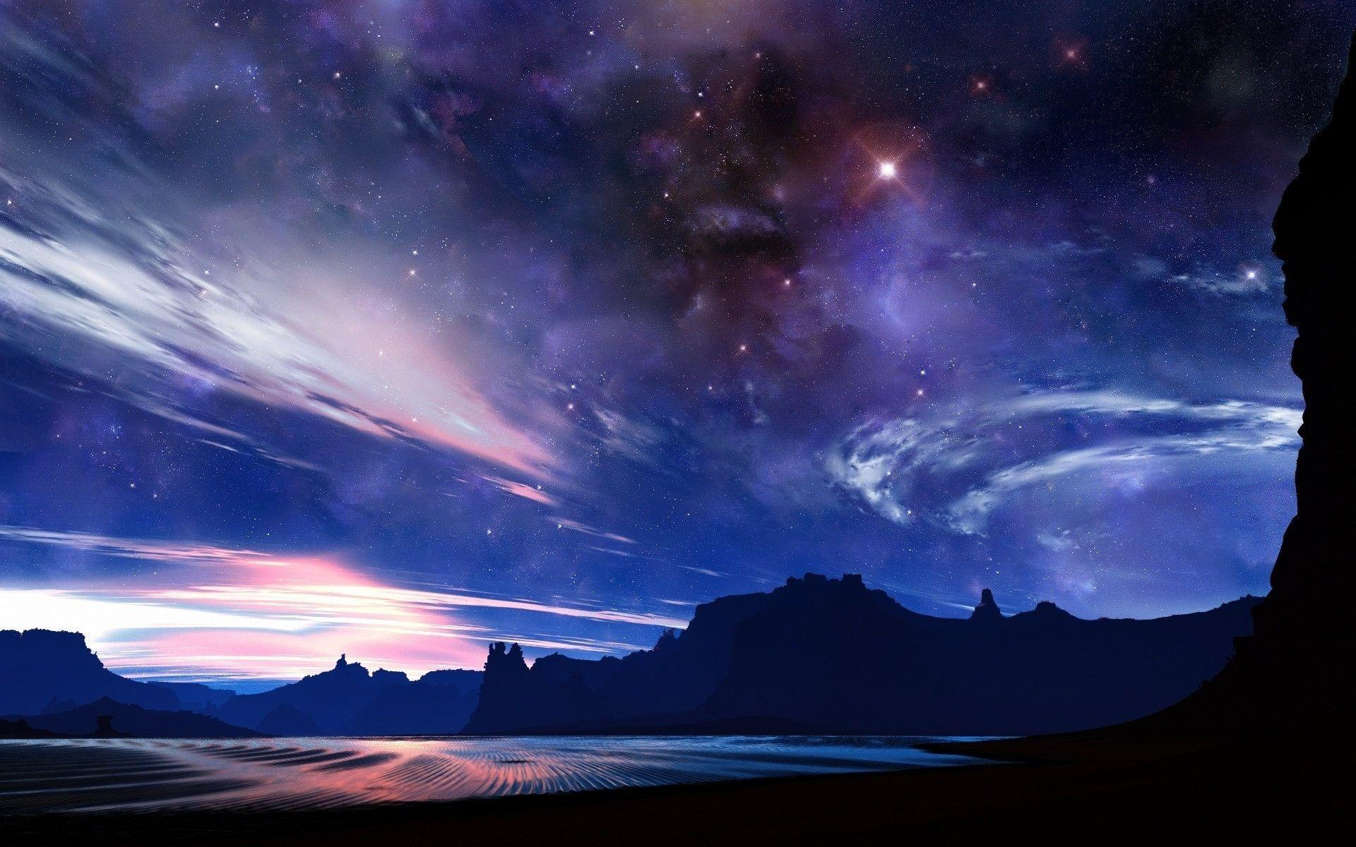 fantastic starry sky background