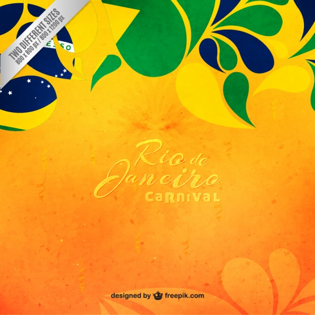 Floral Brazil carnival background Vector | Free Download