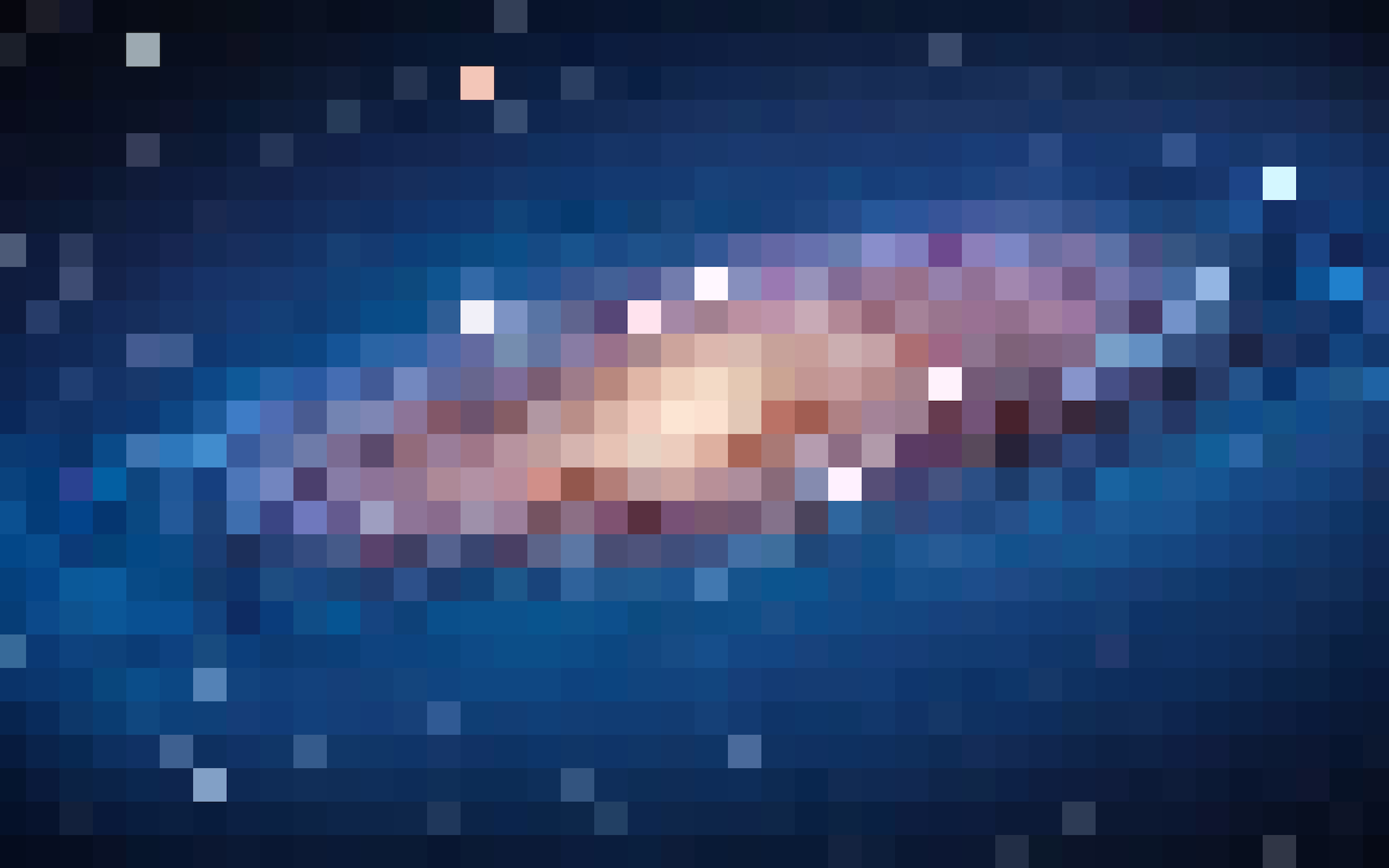 Galaxy In 8 Bit Pixel Art