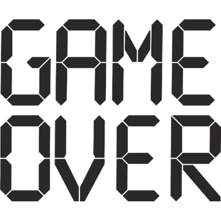 game over png powerpoint background