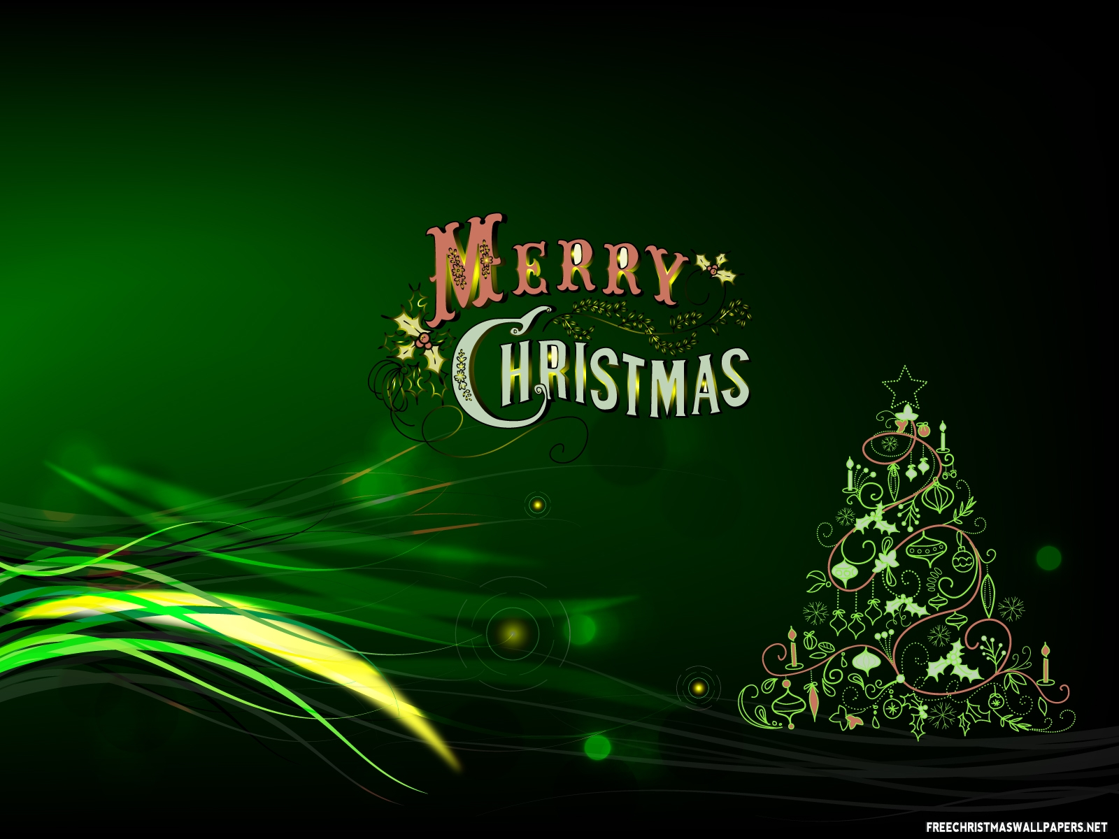happy christmas green background