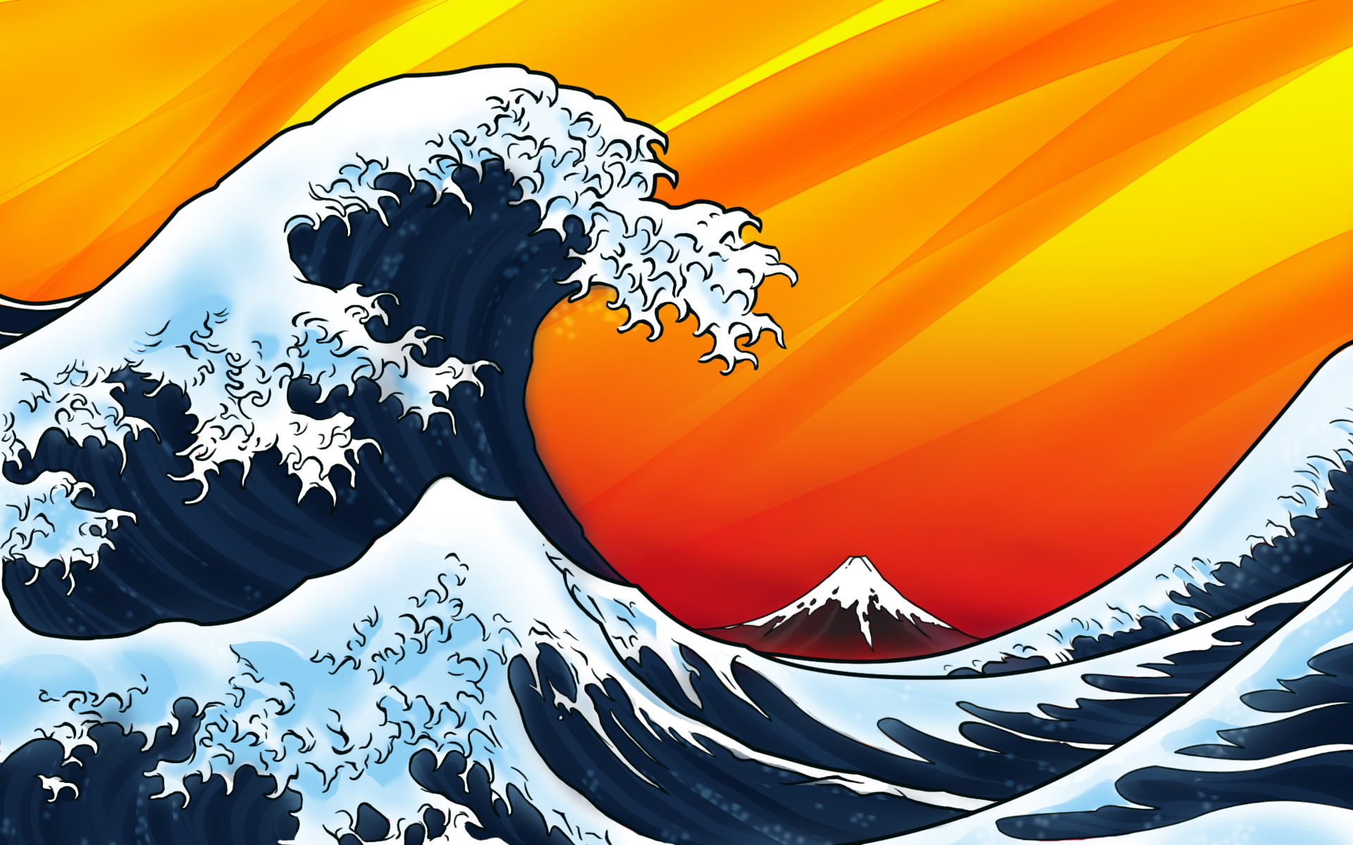 japanese wave vista background
