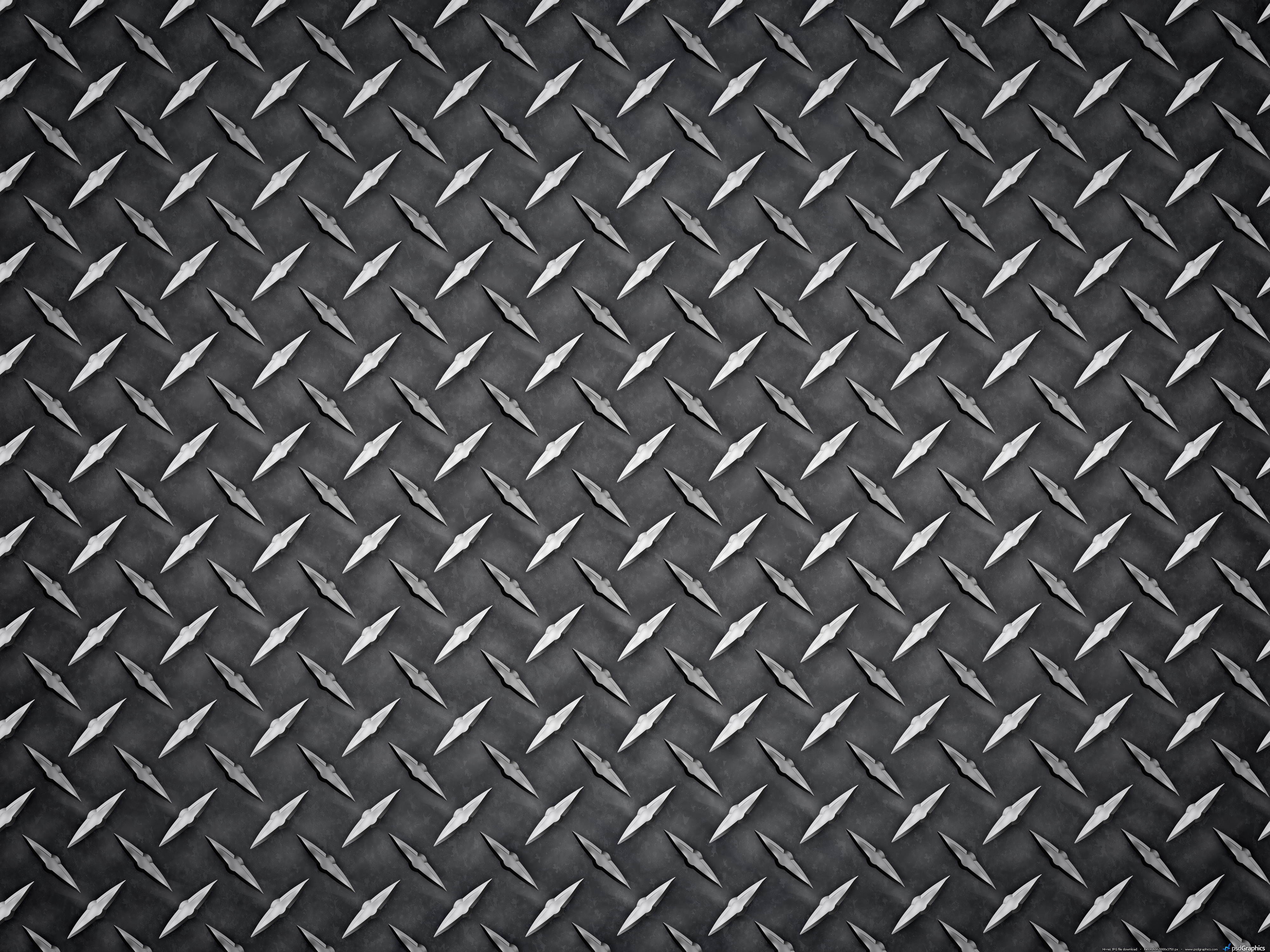 Metal Diamond Plate Texture Steel Background