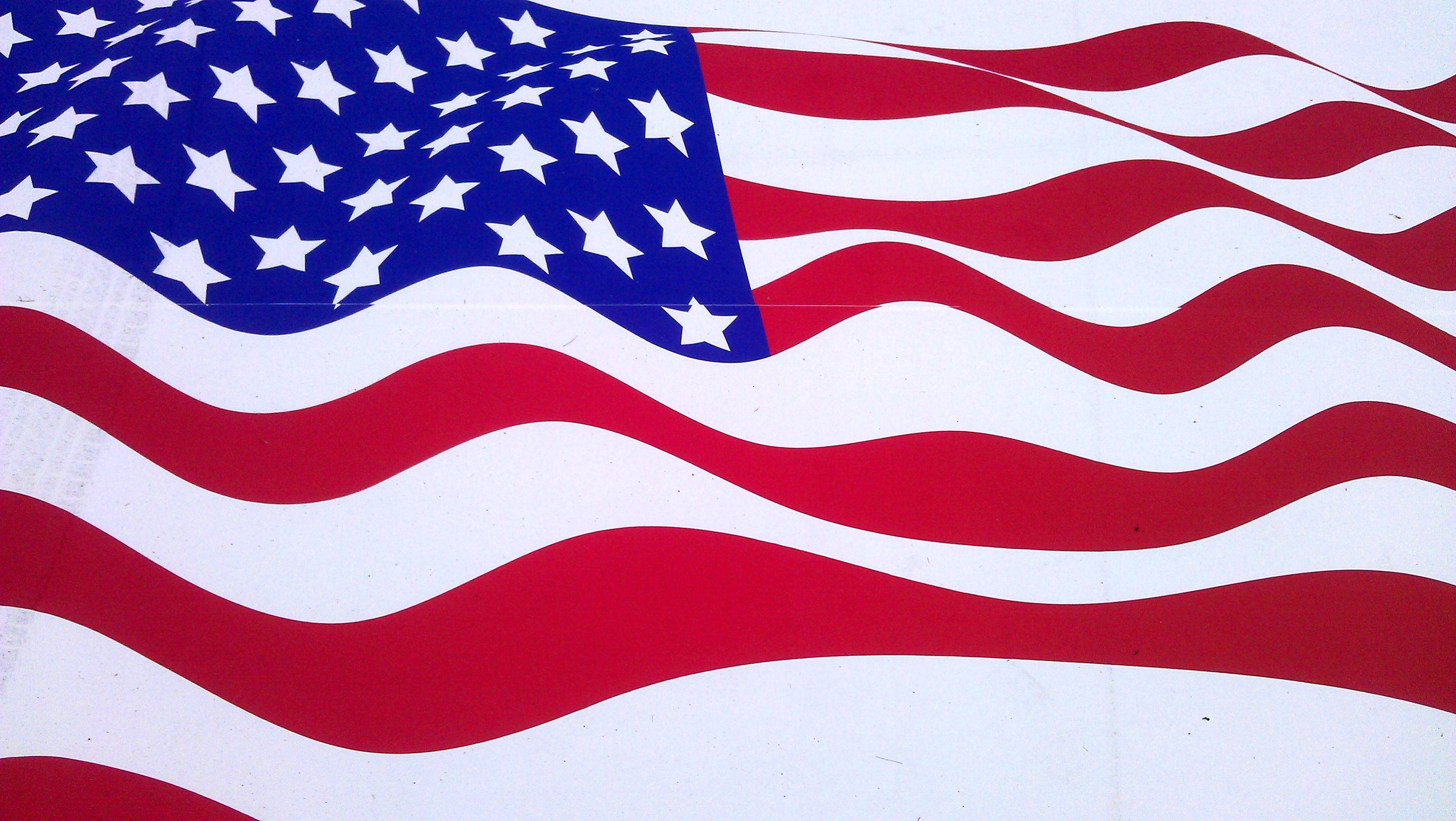 Natural American Flag Background