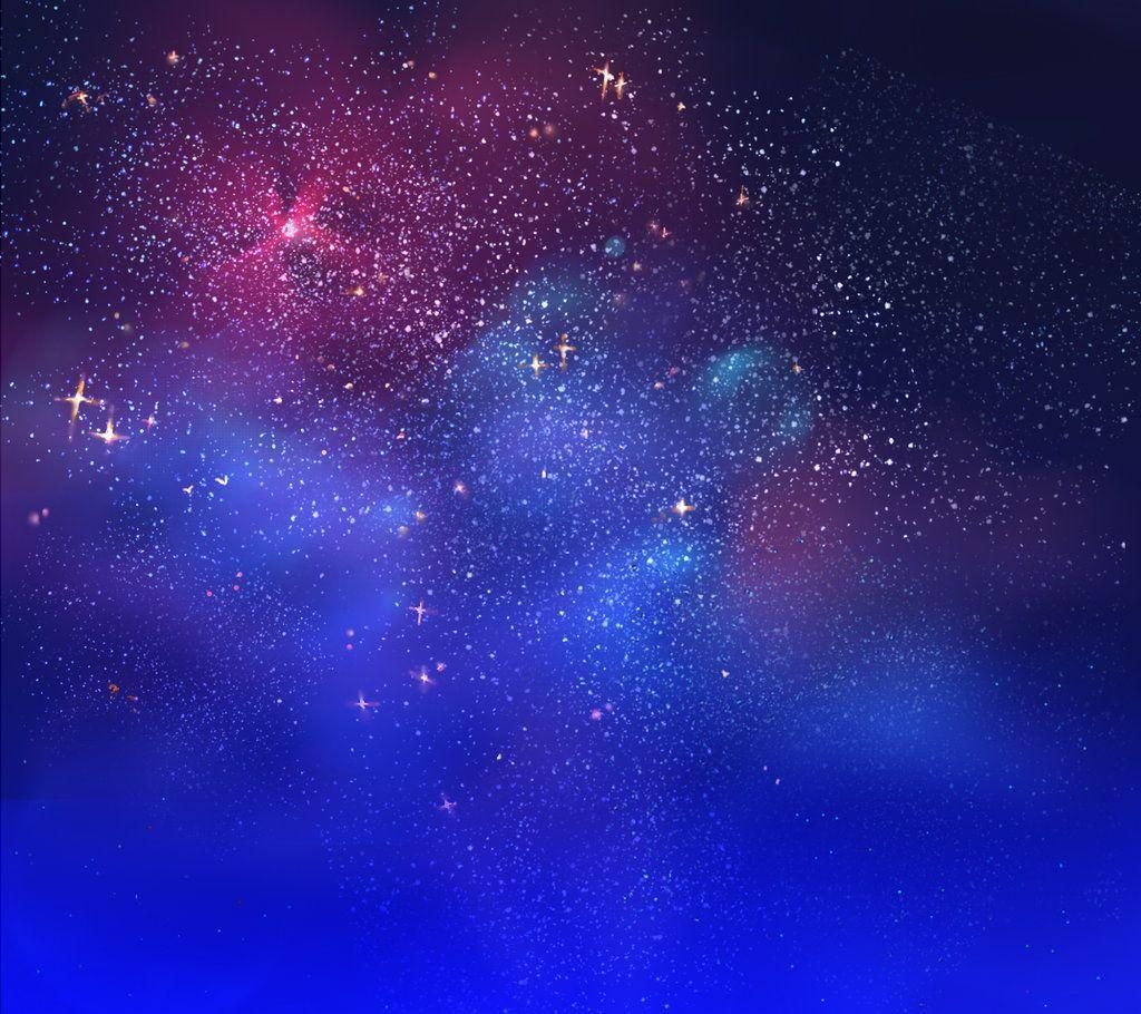 night blue starry sky background