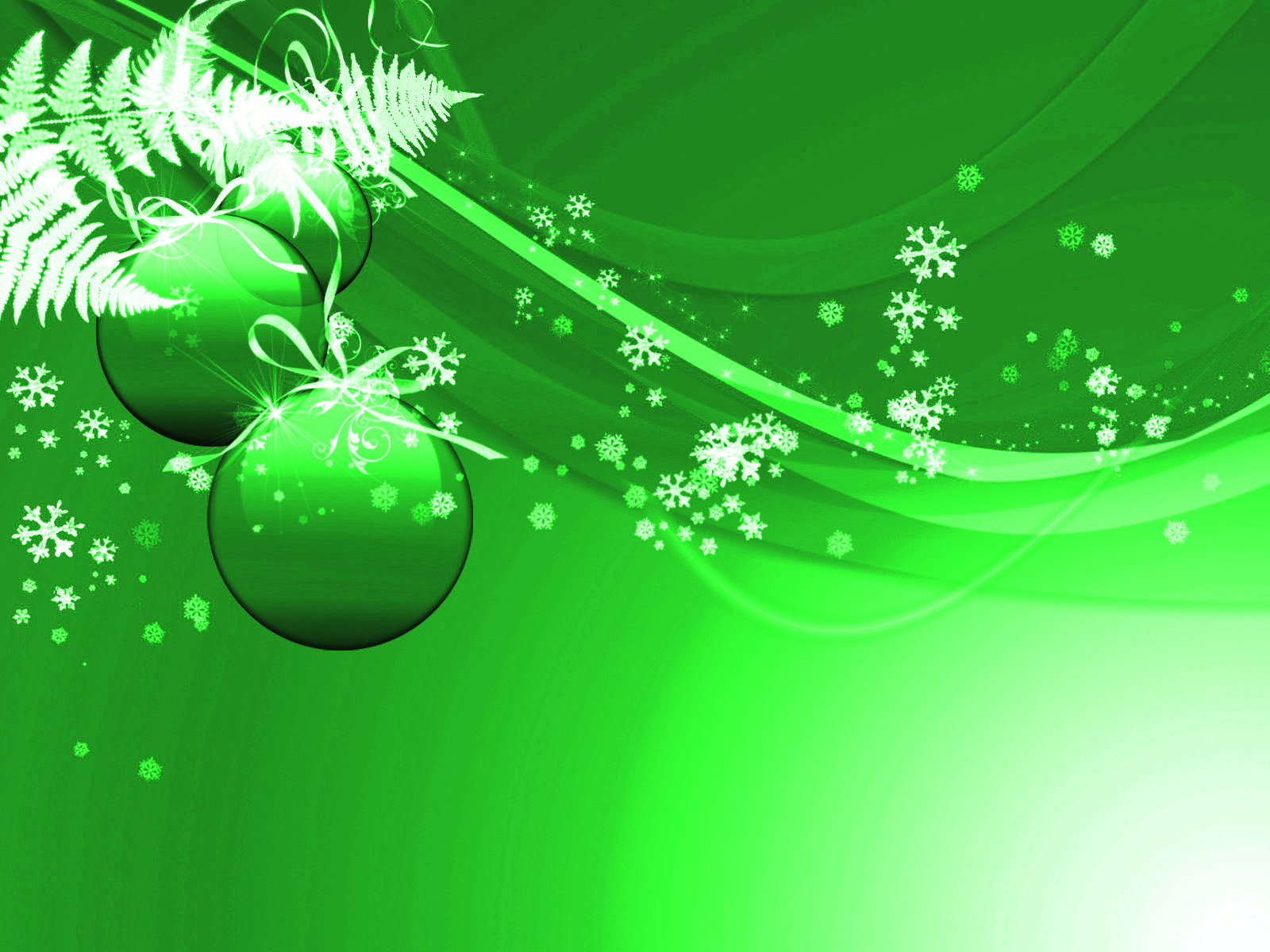 Green Christmas Background - PowerPoint Backgrounds for ...