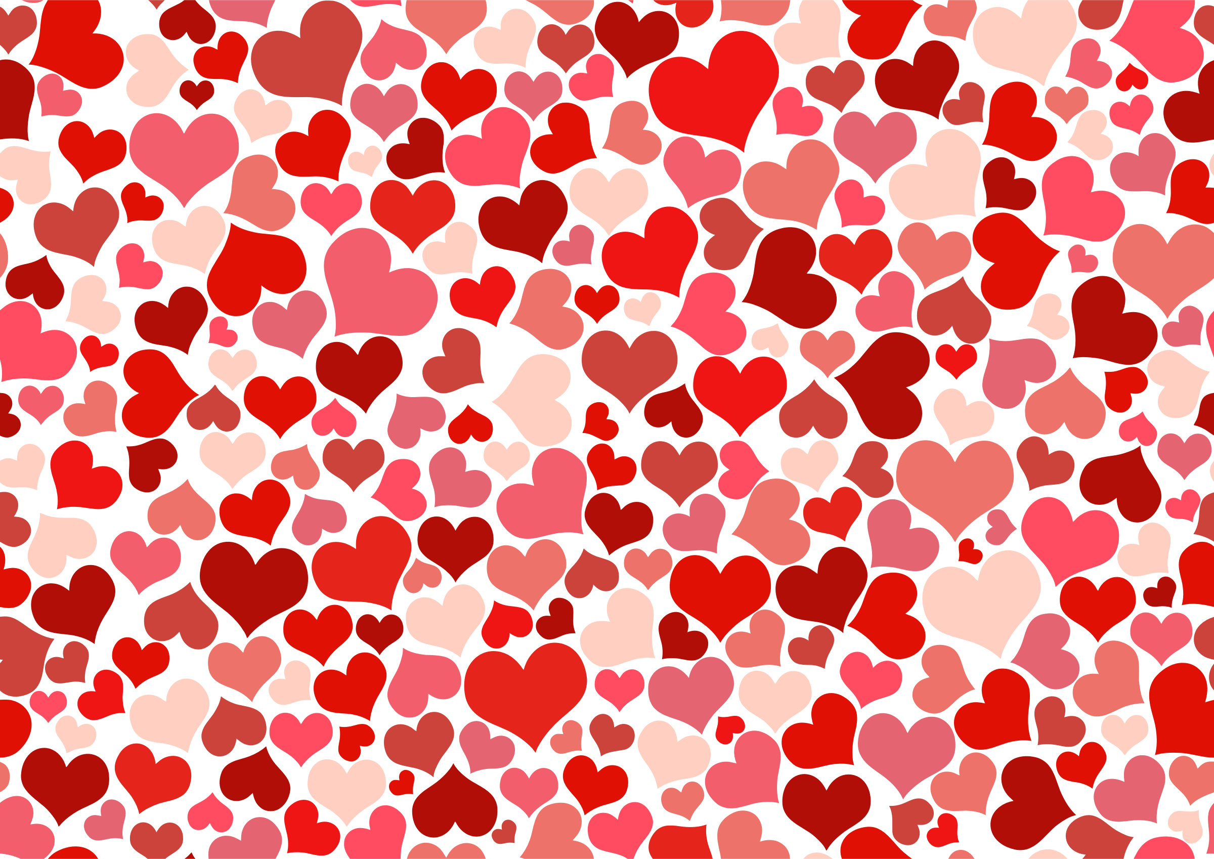 pink heart patterns background