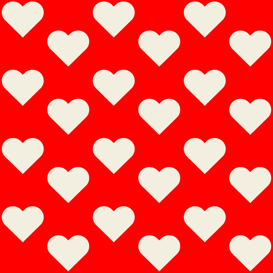 red background white hearts