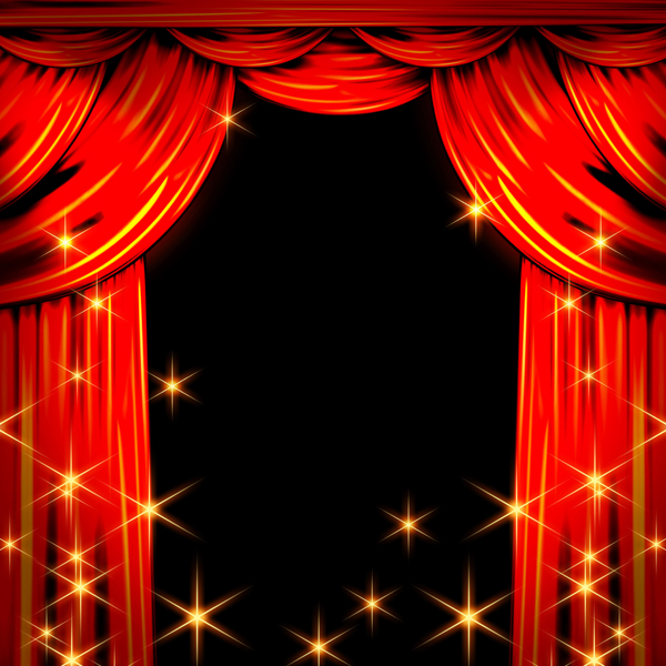 red stage curtain background picture