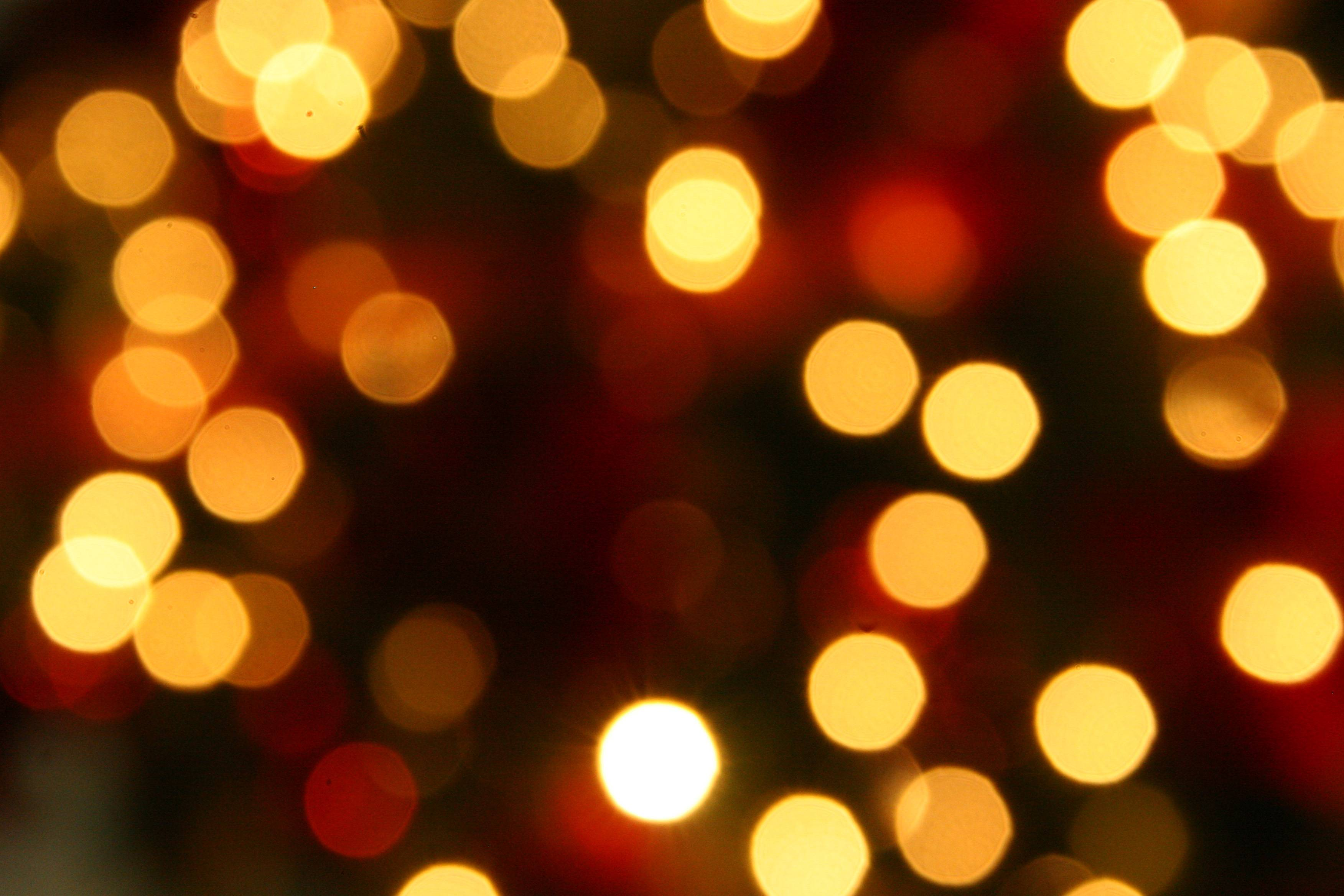 Romantic Christmas Lights Background