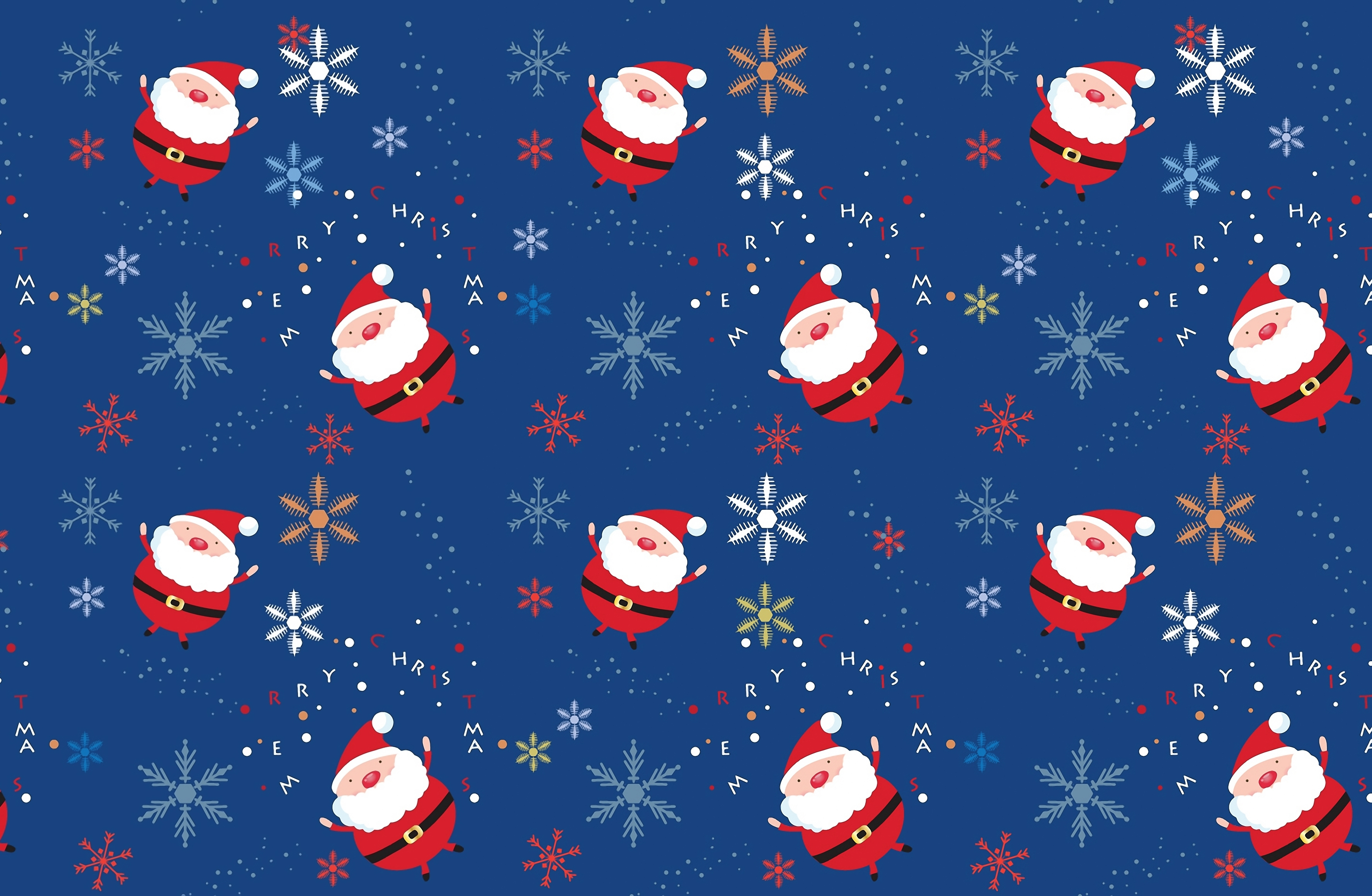 Background Vintage Santa Claus