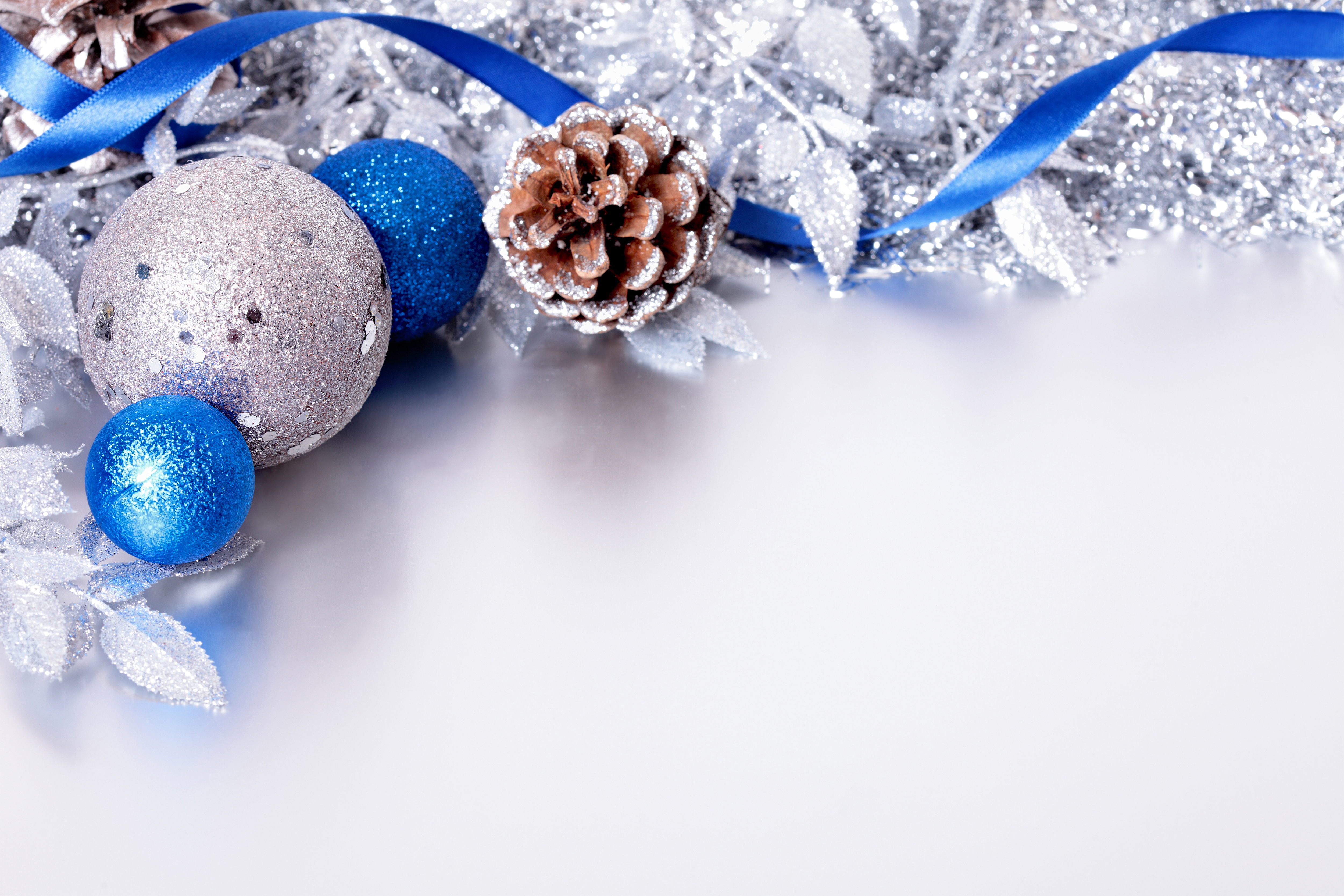 Silver And Blue Christmas Backgrounds Image