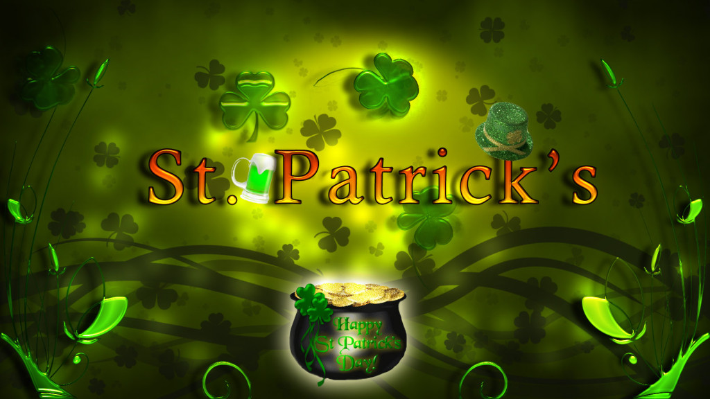 st. patrick's day dickson st. pub background