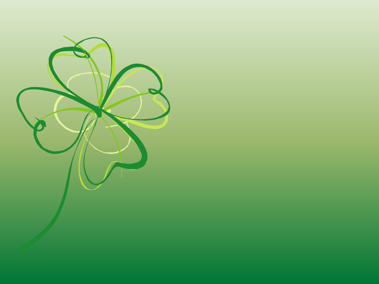st patrick day foliage background