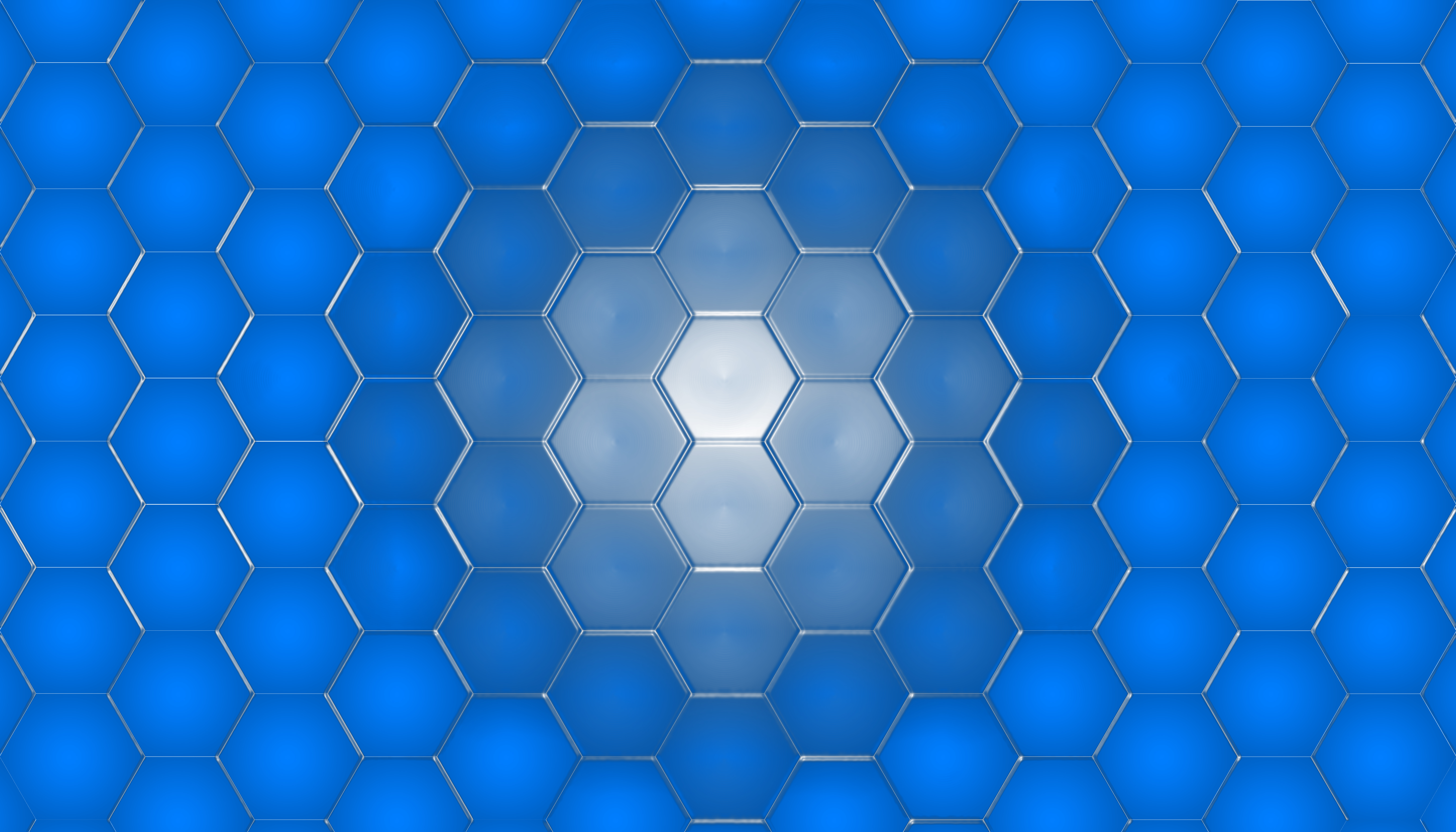 Technology Hexagon Desktop Background