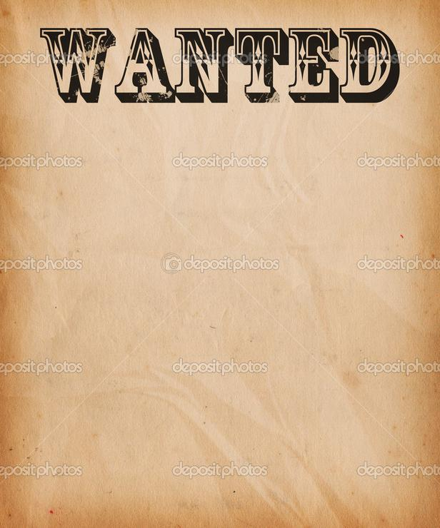 wanted text poster background pic