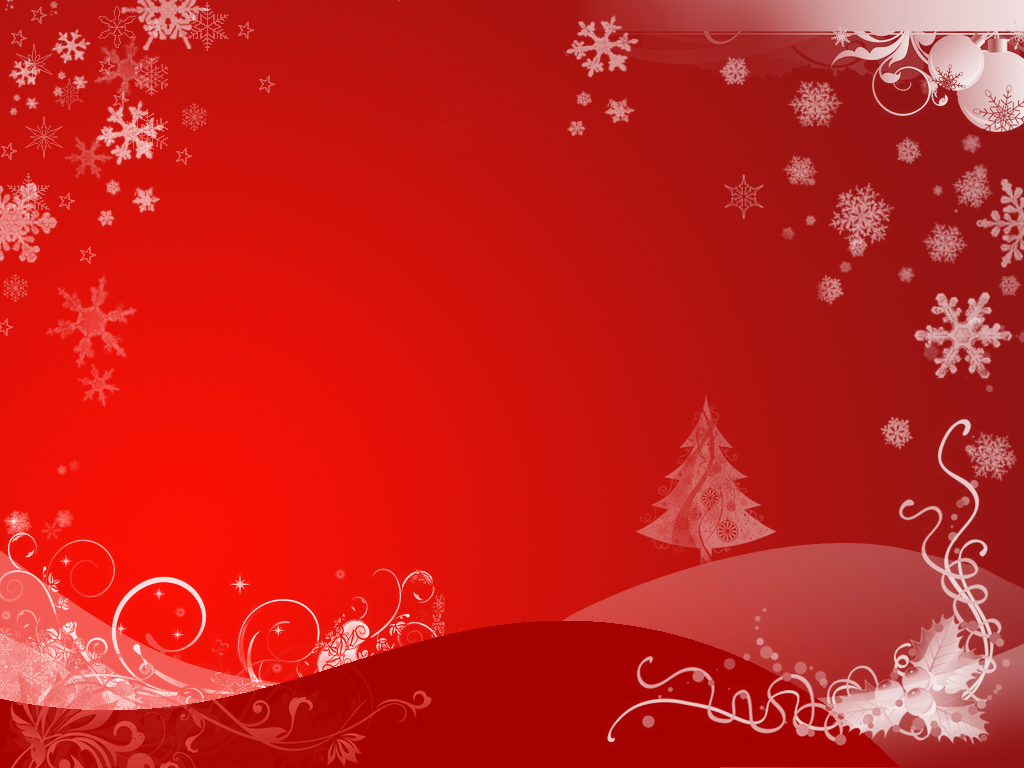 winter tree holiday ppt background
